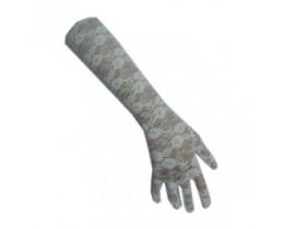 Handschoen Kant wit lang