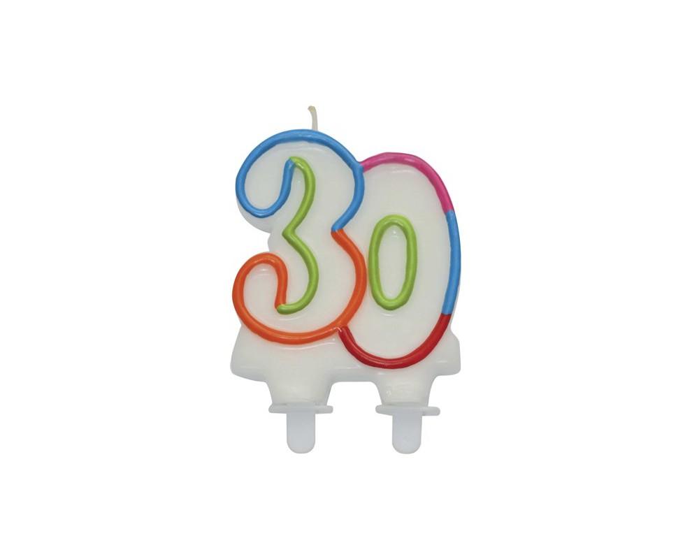 Nummerkaars 30