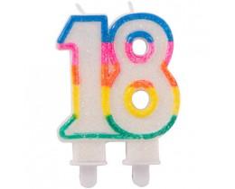 Kaars 18 jaar