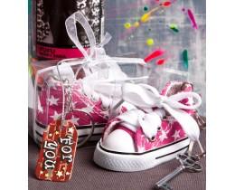 Sleutelhanger Sneaker roze