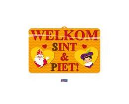 Wanddeco Sint en Piet