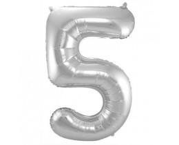Ballon 5 zilver