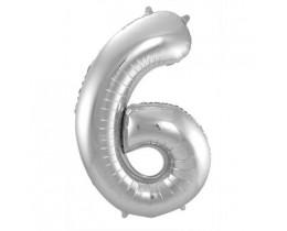 Ballon 6 zilver