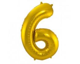 Grote Folieballon 6 goud