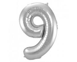 Ballon 9 zilver