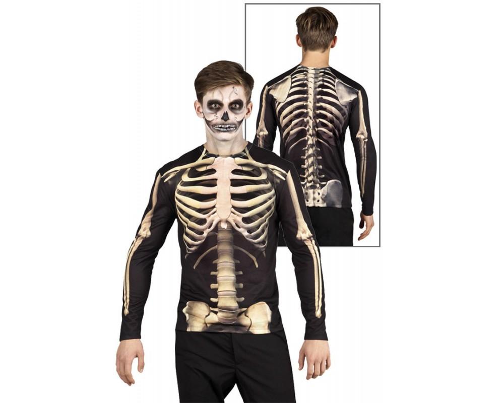 Fotorealistisch shirt Skelet