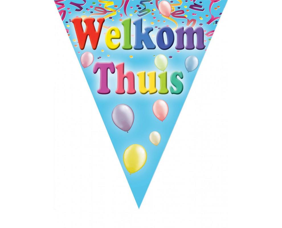 Vlaggenlijn Welkom Thuis ballonnen
