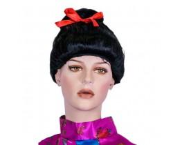 Pruik Geisha zwart