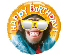 Folieballon Birthday Chimp