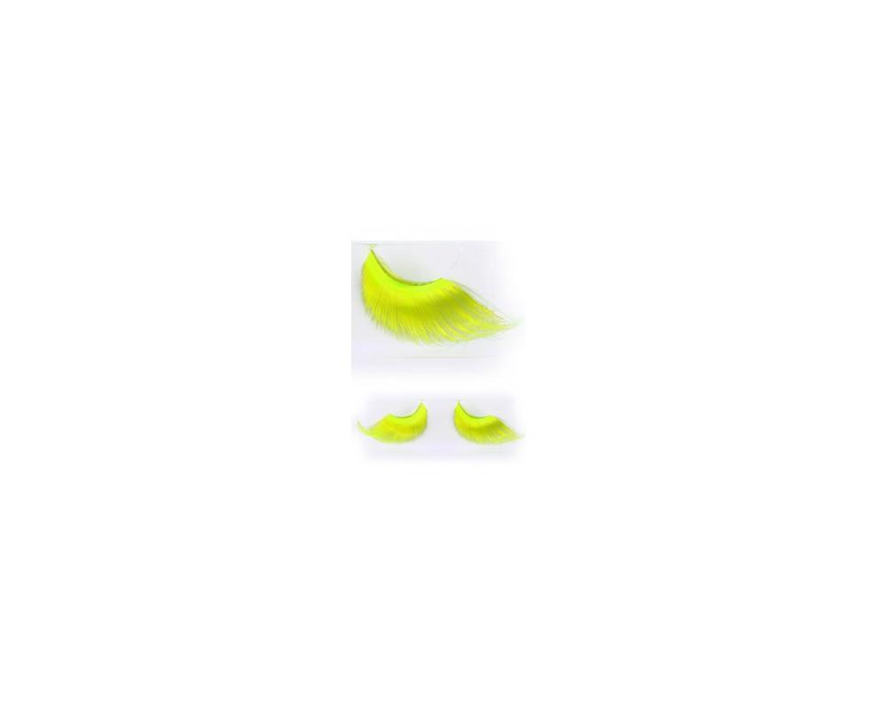 Wimpers fluor geel