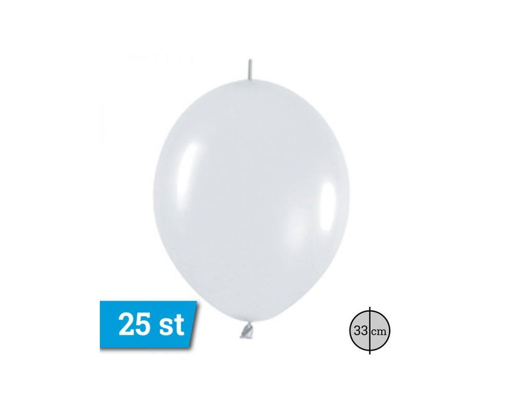 link o loon ballonnen wit