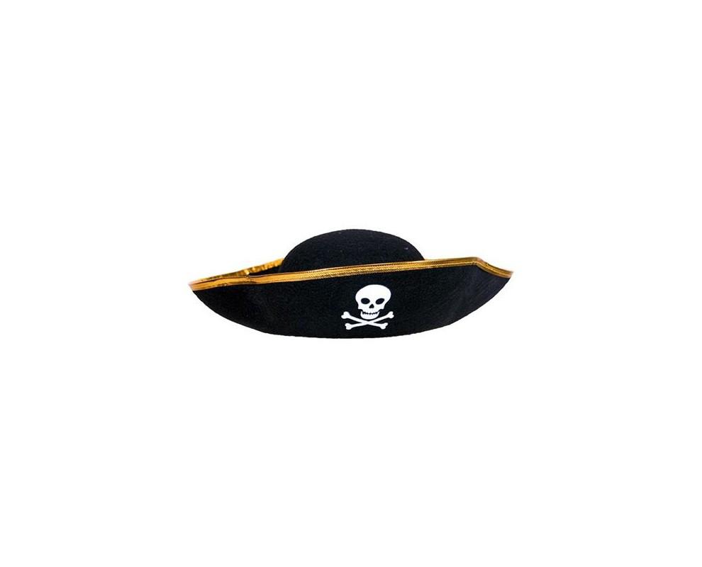 Piratenhoed vilt Zwart
