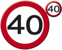 Verkeersbord 40 jaar klein