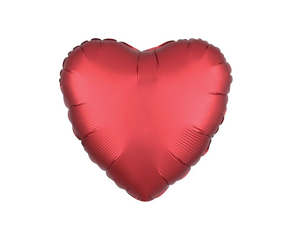 Folie ballon Hart rood