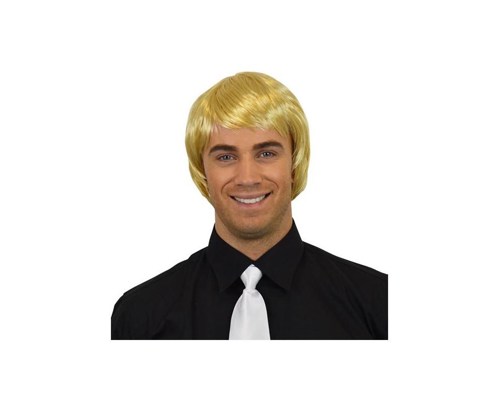 Heren Pruik steil Blond