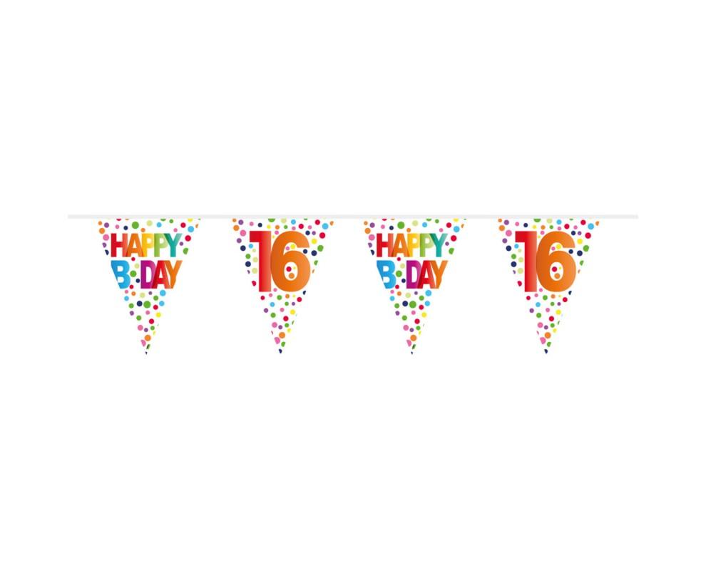 Vlaggenlijn Happy Bday 16