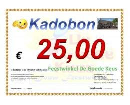 Kadobon 25 * 2019