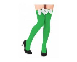 Groene kousen met witte strik