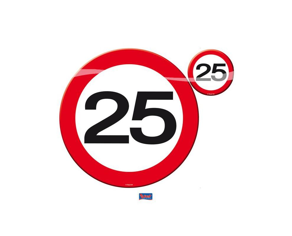 Verkeersbord Klein25