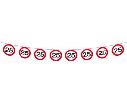 Vlaggenlijn Verkeersbord 25