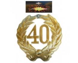 Schild 40 goud