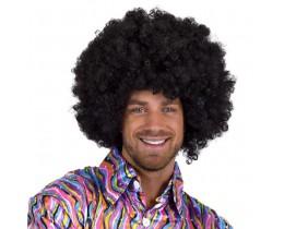 Super Afro pruik zwart