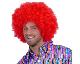 Pruik Afro rood XL
