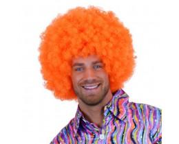 Pruik Afro oranje XL