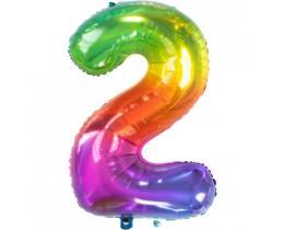 Grote Folieballon 2 regenboog