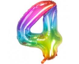 Grote Folieballon 4 regenboog