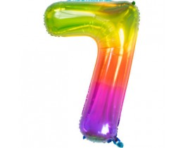 Grote Folieballon 7 regenboog