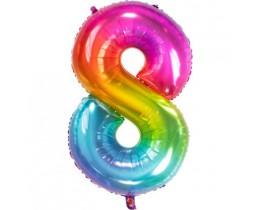 Ballon 8 rainbow