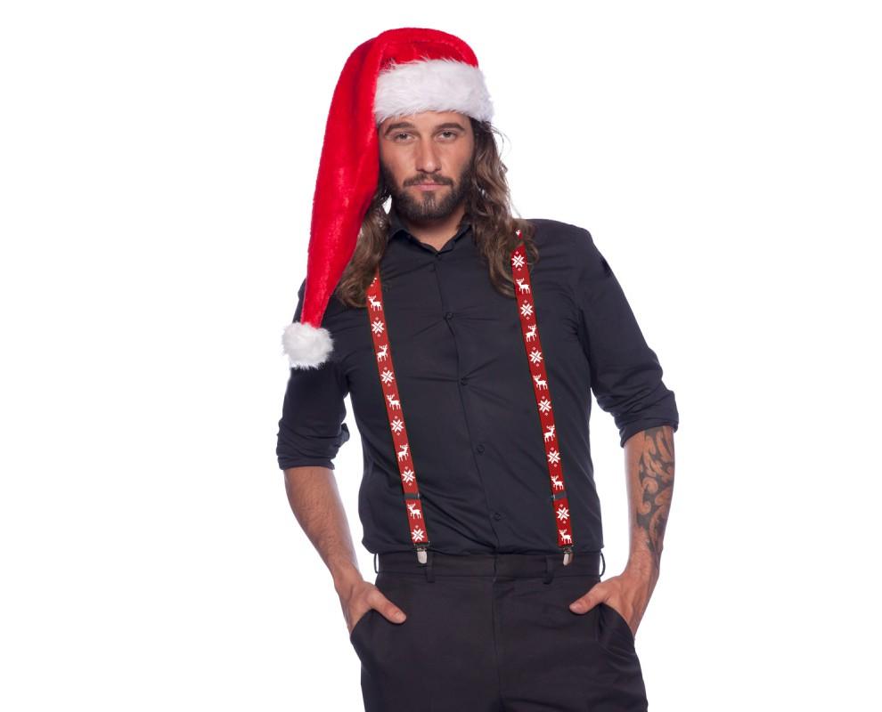 Kerst bretels rood