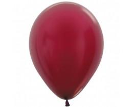 Ballon metallic burgundy 30cm