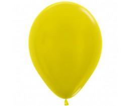 Ballon Metallic yellow 30cm
