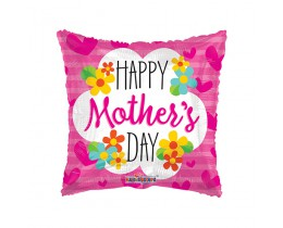 folieballon vierkant happy mothers day