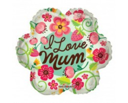 Folieballon I love Mum