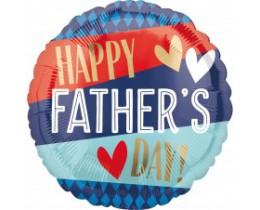 Folieballon Vaderdag strepen