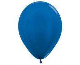 Ballon metallic blue 12cm