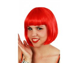 Pruik Bobline rood