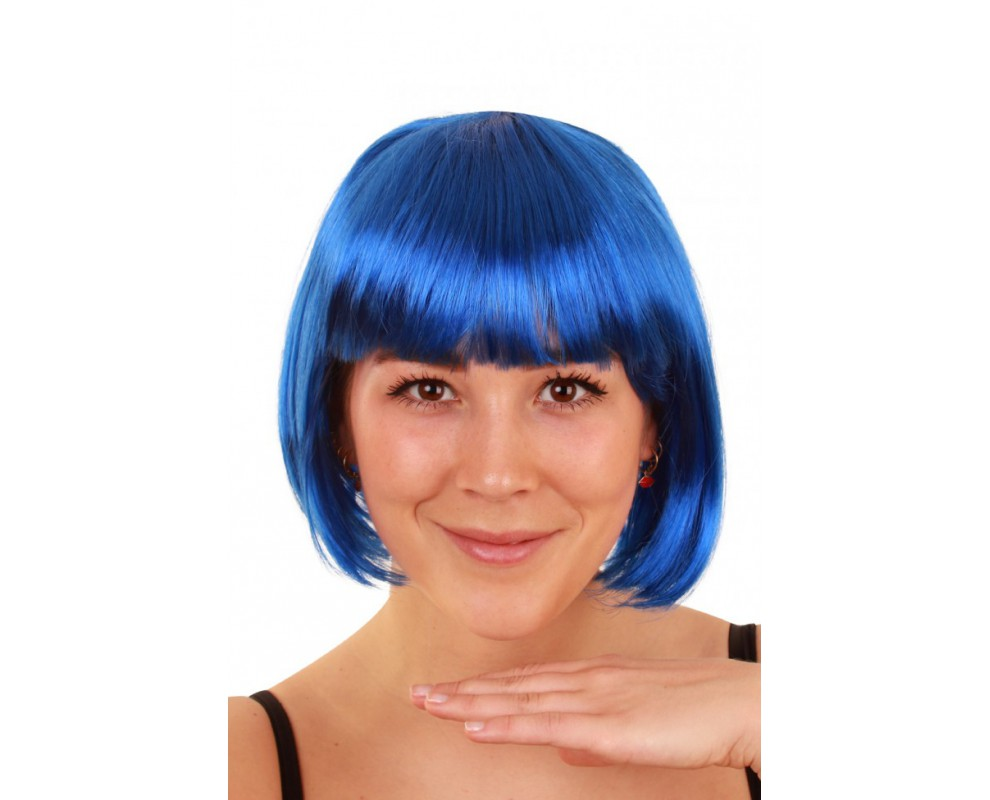 Pruik Bobline blauw