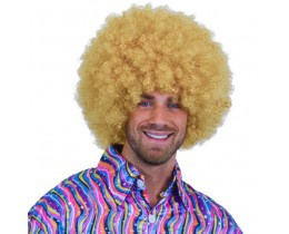 Pruik Afro blond XL