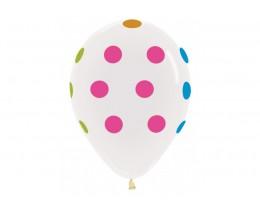 Ballon Polka dots Neon clear