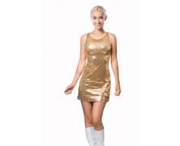 Jurkje Sequins goud dames