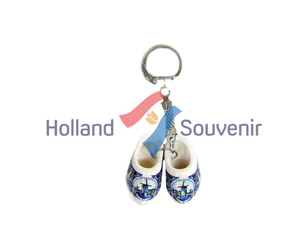Sleutelhanger klompjes Delft 4cm