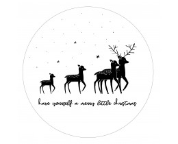 Muurcirkel Kerst herten Zoedt