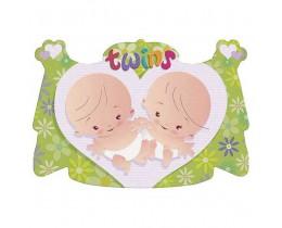 Geboorteschild Twins