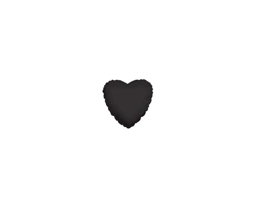 Folie ballon Hart zwart