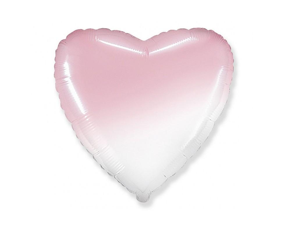 Folie ballon Hart pastel roze