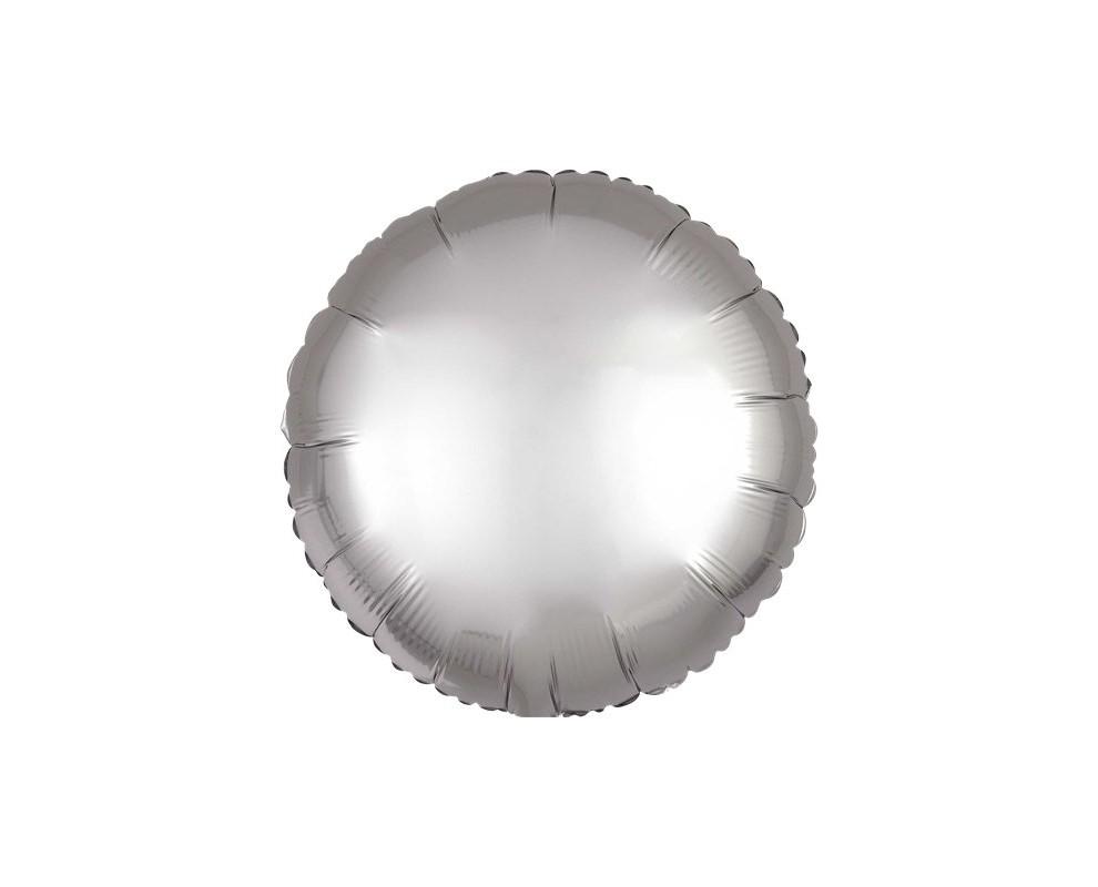 Folie ballon Rond zilver